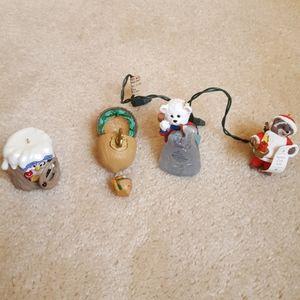 Hallmark Collectors Club ornaments lot of 4